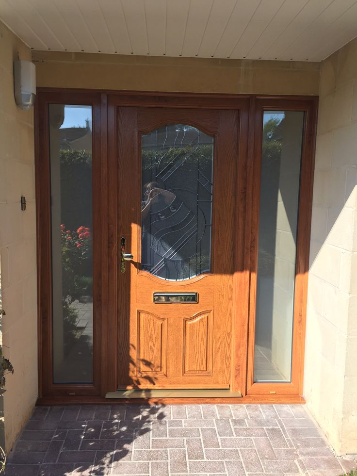 Oak composite door and screens