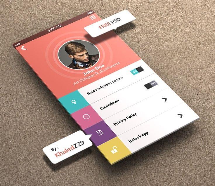 Inspiration mobile #1 : des applications et du web design ! - interface | localbizconnect.com | #mobilewebsite