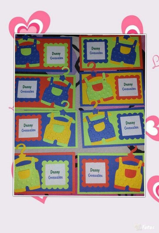 Tarjetas personalizadas para bebé, tarjetas personales
