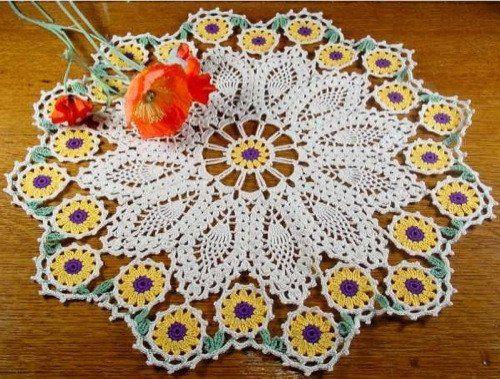 Flower Doily Set Crochet Pattern – Maggie's Crochet