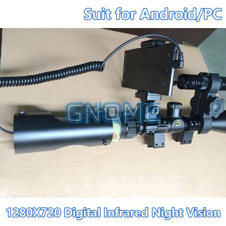 Nvr digital inframerah night vision perangkat riflescope lingkup senapan berburu goggles kamera otg untuk android telepon micro usb bermata