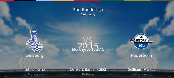 MSV Duisburg vs SC Paderborn 07 Live Soccer Preview Match kickoff stats.Duisburg vs Paderborn live streaming football Results fixtures squad news h2h update