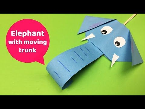 Elephant with moving trunk SIMPLE and only basic materials needed! - YouTube
