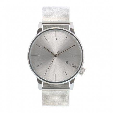 Koop dit Komono Winston Royale Silver horloge KOM-W2350 horloge online in onze webwinkel.                     Dit is een dames, heren, unisex horloge met een quartz uurwerk.                             De kleur van de kast is zilver en de kleur van het uurwerk is zilver.                             De kast is gemaakt van staal en de band van het horloge van rvs.                             Het uurwerk is analoog en er wordt gebruik gemaakt van mineraalglas.                     ...