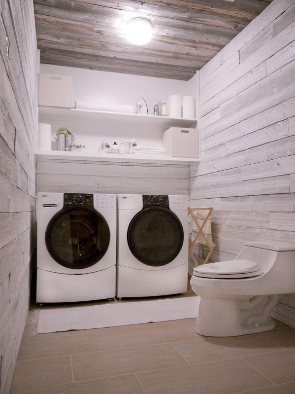 Laundry Room Redo via Erin Loechner in Design Inspiration  http://blog.hgtv.com/design/2011/08/10/before-after-our-laundry-room-progress/