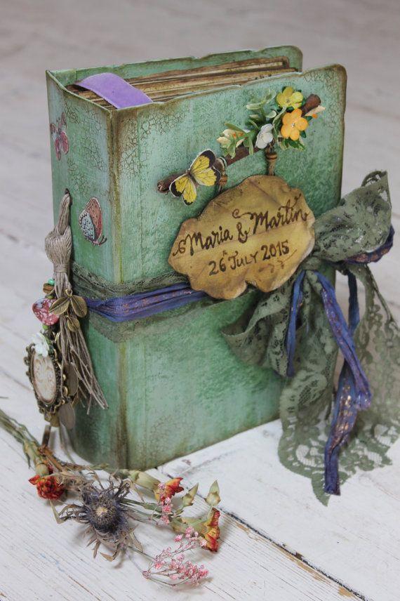 Woodland Wedding guest book photo album, hand bound journal, scrapbook - Made to Order 9x6 inches