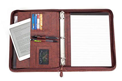 Professional Business Padfolio Portfolio Briefcase Style Organizer Folder With Handles Notepad and 3 Ring Binder - Brown Synthetic Leather... #AD #Disc #ExecutiveOfficeSolutions #ReviewingLife