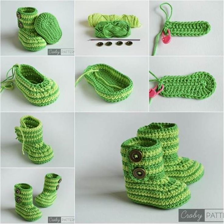 """<input class=""""jpibfi"""" type=""""hidden"""" >Handmadebaby shoes are perfect gifts for babies. You can create a nice one with a crochet hook and some yarn! Here is free patternto make a pair of crochetbaby booties with button closure. They look very stylish and cute! They…"""