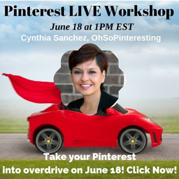Pinterest Jump Start with Cynthia Sanchez