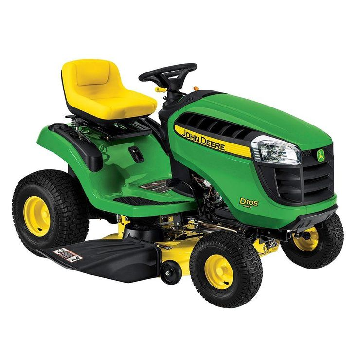 John Deere D105 42 in. 17.5 HP Gas Automatic Lawn Tractor-BG20974 - The Home Depot