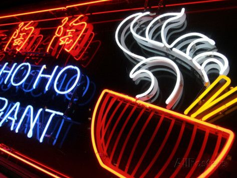 Neon Sign at Foo's Ho Ho Restaurant, Chinatown, Vancouver, Canada Photographic Print by Lawrence Worcester at AllPosters.com