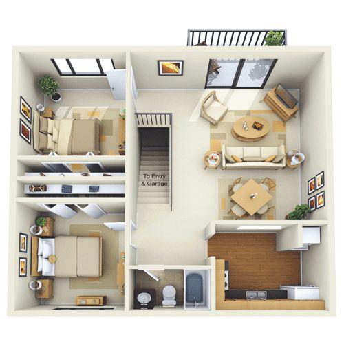 2 bedroom garage apt