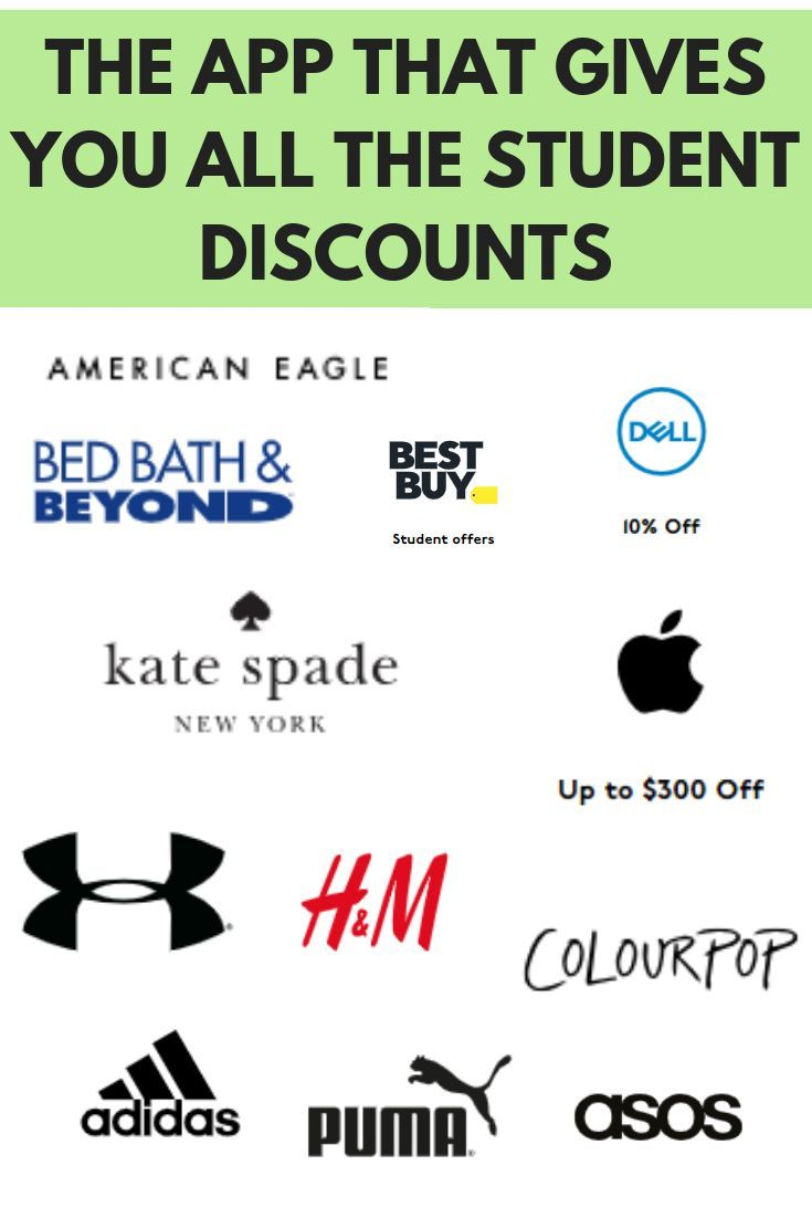 Are You A College Student Looking For Student Discounts At Your Favorite Brands This App Shows You Hundreds Of Stores Tha Student College Life Hacks College Dorm Essentials
