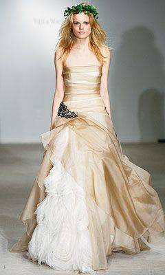 Modified Vivienne Westwood two toned wedding dress