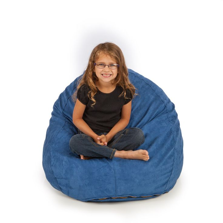 SMALL BEAN BAG REMOVABLE COVER ULTRA SUEDE OCEAN BLUE