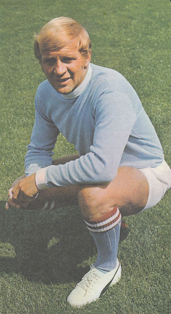 July 1969. Manchester City and England forward Francis Lee, pictured at Maine Road.