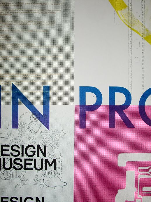 A close-up of one of Dan Mather's posters