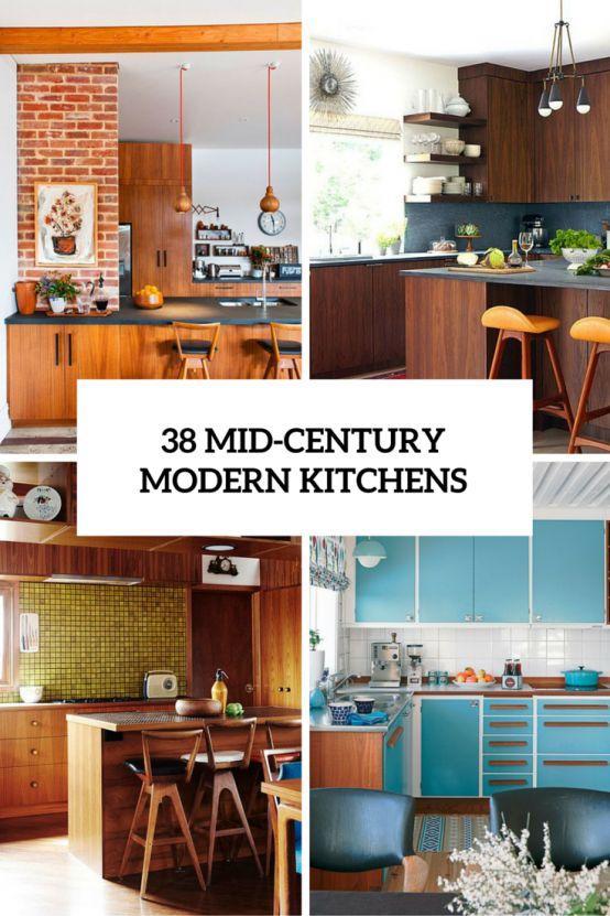 39 Stylish And Atmospheric Mid-Century Modern Kitchen Designs