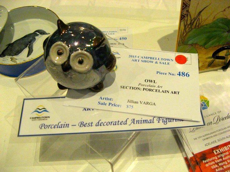 Jillian Varga Owl won 1st prize Campbelltown 2015