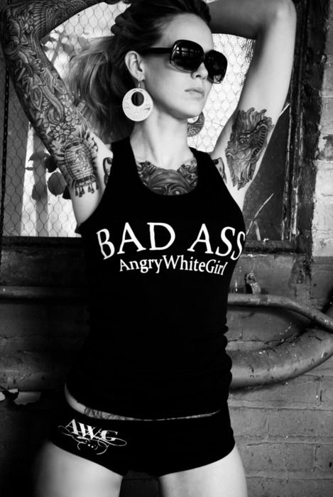 Bad Ass inked girl INK~ tattoos