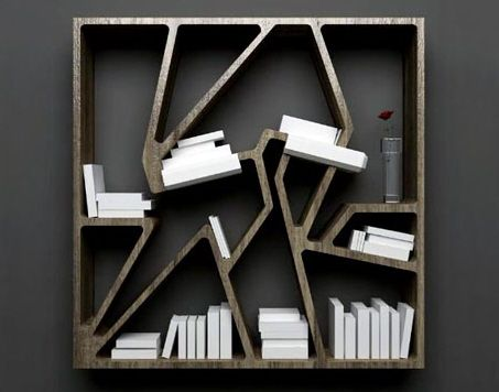 Cool Lighted Bookcase Design