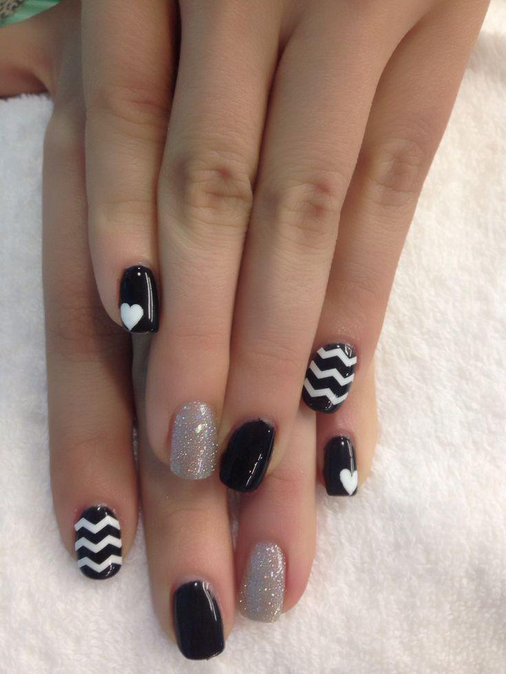 Short gel manicure