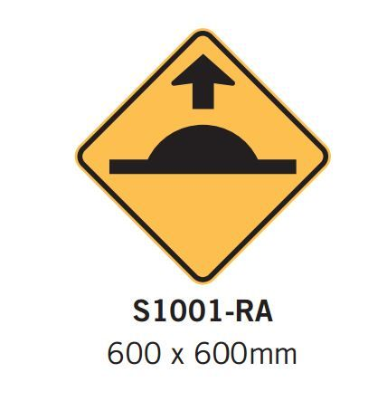 Car Park Signs- Speed hump sign arrow - Spacepac Industries