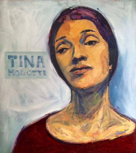 Kemp 2015 (July) Tina Modotti looking sad, oil on canvas, 80x90 cm, €680, werkvankemp.nl #portrait #porträt #portret  #oilpainting #olieverf #öl #grey #blue #impressionist #lossetoets http://werkvankemp.nl/wp-content/uploads/2015/09/Kemp-2015-Tina-Modotti-looks-sad-werkvankemp.nl_.jpg