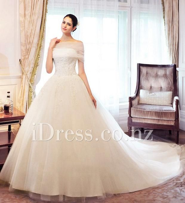 Best 25 wedding gown cover up ideas on pinterest cover up vintage strapless beaded applique ball gown tulle wedding dress with detached off the shoulder junglespirit Image collections