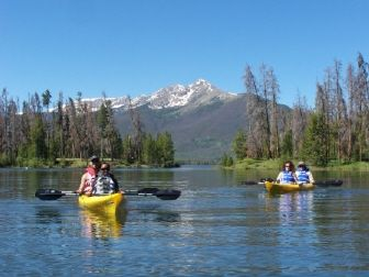 2.5 hour guided kayak tours on Lake Dillon. Frisco Colorado