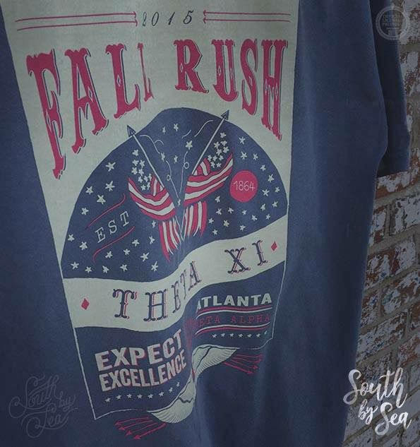 Theta Xi | Fall Rush | USA America Design | Fraternity Rush Wear | South by Sea | Greek Tee Shirts | Greek Tank Tops | Custom Apparel Design | Custom Greek Apparel | Sorority Tee Shirts | Sorority Tanks | Sorority Shirt Designs