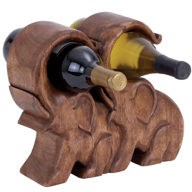 By nostalgic finds 2 bottle elephant wine holder gift - Elephant wine bottle holder ...
