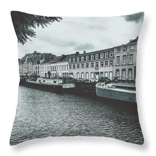 Travel Throw Pillow featuring the photograph Somewhere In Gent. Part 2 by Elena Ivanova IvEA  #ElenaIvanovaIvEAFineArtDesign #Design #Pillow #Cushiоn #HomeDecor #Gift
