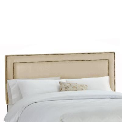 Skyline Furniture - Upholstered Full Headboard in Premier Microsuede Oatmeal - 291NB-BRPRMOTM - Home Depot Canada