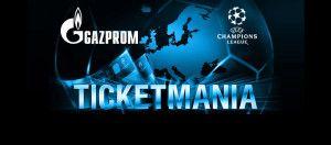 Ticketmania es un sorteo de entradas para cualquier partido de cada jornada de la Champions League 2014-15 que pone en juego Gazprom