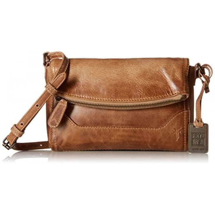 CrossbodyLeather cross-body bag in slightly-distressed finish featuring foldover top, printed lining, and debossed logo at left baseAdjustable cross-body strapPockets: 1 interior zip, 1 exterior