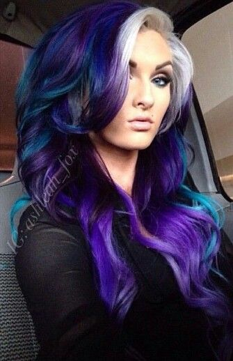 purple dyed hair color @bronx_hairllc @ashleah_fox