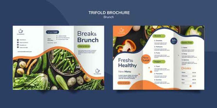 قالب بروشور طعام جاهز Psd Brochure Examples Brochure Template Restaurant Brochures