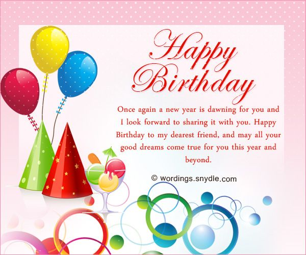 Best Friend Birthday Messages: Happy Birthday Wishes for A Best FriendWho finds a true friend finds a great treasure and can walk through life knowing that there is one who will always be there for you. True and genuine friends are rare and special so when you find someone who…