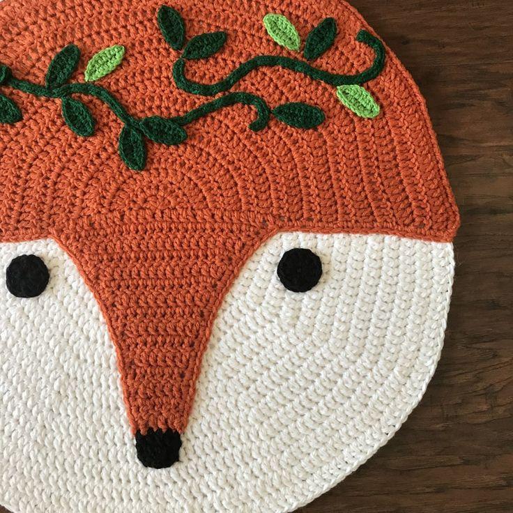 Adorable Woodland Fox Nursery Rug Crochet Project Shared