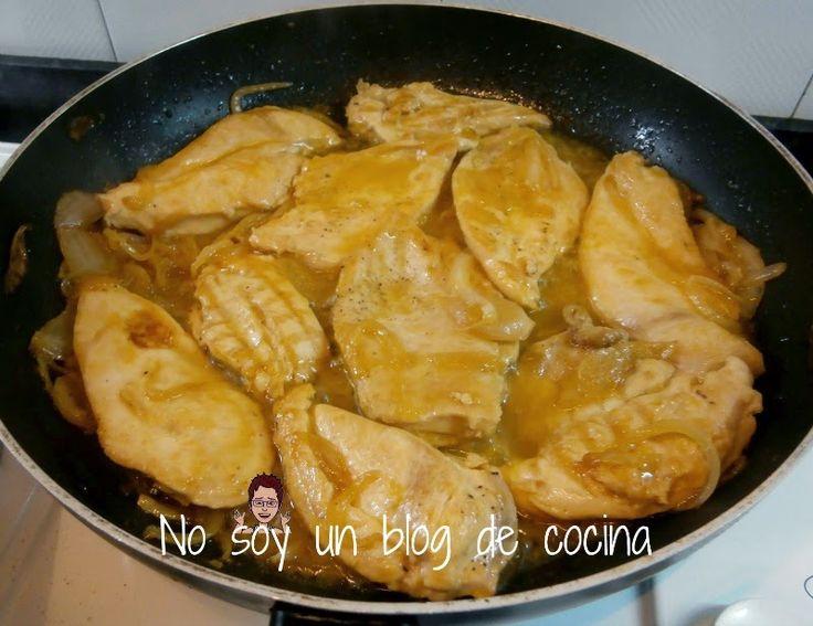 Pechugas de pollo con salsa de mandarinas platos de - Platos con pechuga de pollo ...