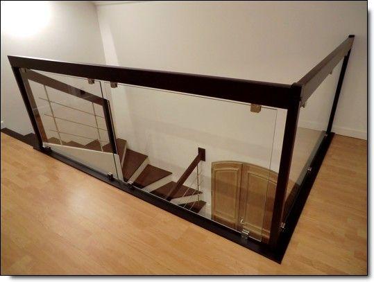 Les 37 meilleures images du tableau escaliers sur for Garde corps mezzanine bois