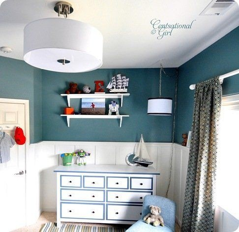 another shot of that cute nautical boys room baby