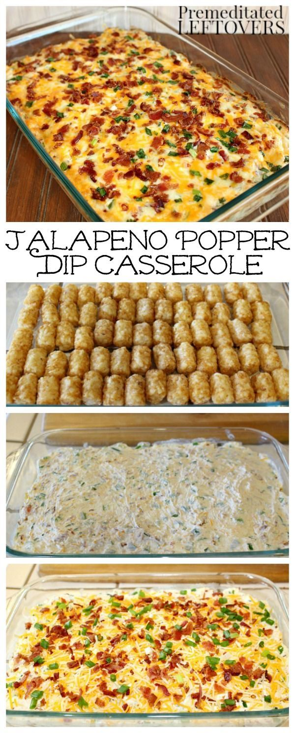 Jalapeno Popper Casserole Recipe - This easy and tasty Jalapeno Popper Tater Tot Casserole is made with jalapeno peppers, cream cheese,…