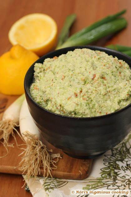 Tavaszi zöld kence (nyers, vegán szendvicskrém): egy falat üde zöld!