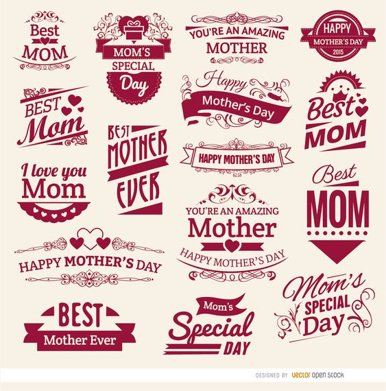 16 Mother S Day Vintage Badges Pinterest Badge And
