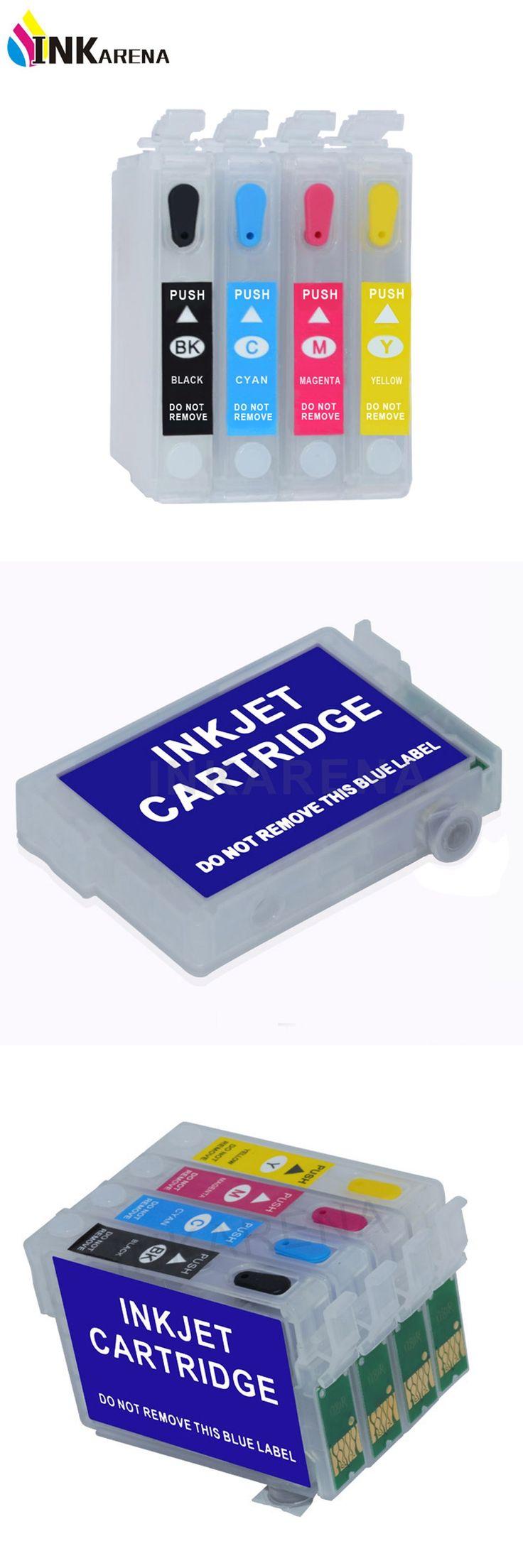 4PCS/set Empty T0631 Refillable ink cartridge For Epson T0631 Stylus C67 C87 C87PE CX4100 CX4700 CX3700 Printers With Reset Chip