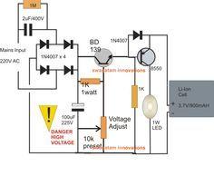 transformerless #emergencylamp circuit