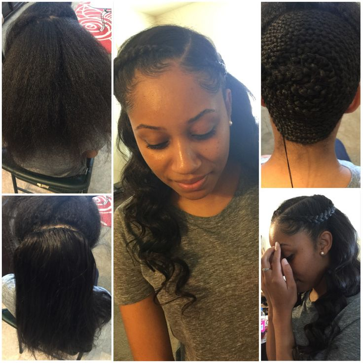 partial sewin   homecoming hairstyles in 2019  Hair