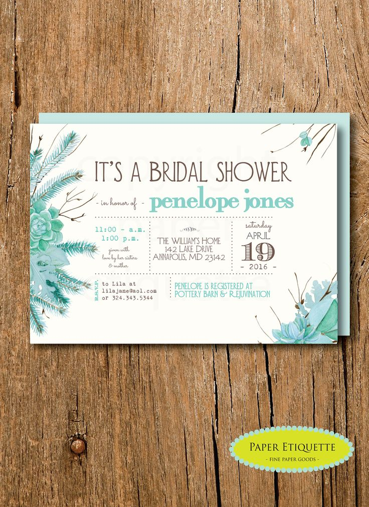 740 best paper etiquette images on pinterest fall bridal shower turquoise wedding shower blush winter wedding shower rustic bridal shower filmwisefo Choice Image